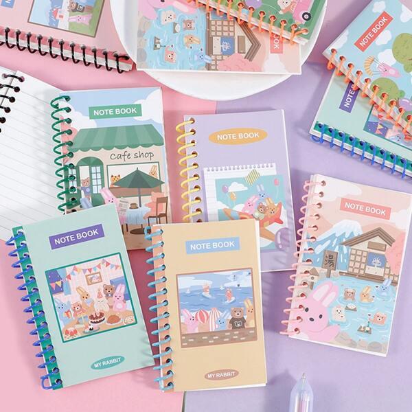 1pc Cartoon Graphic Random Notebook, Multicolor