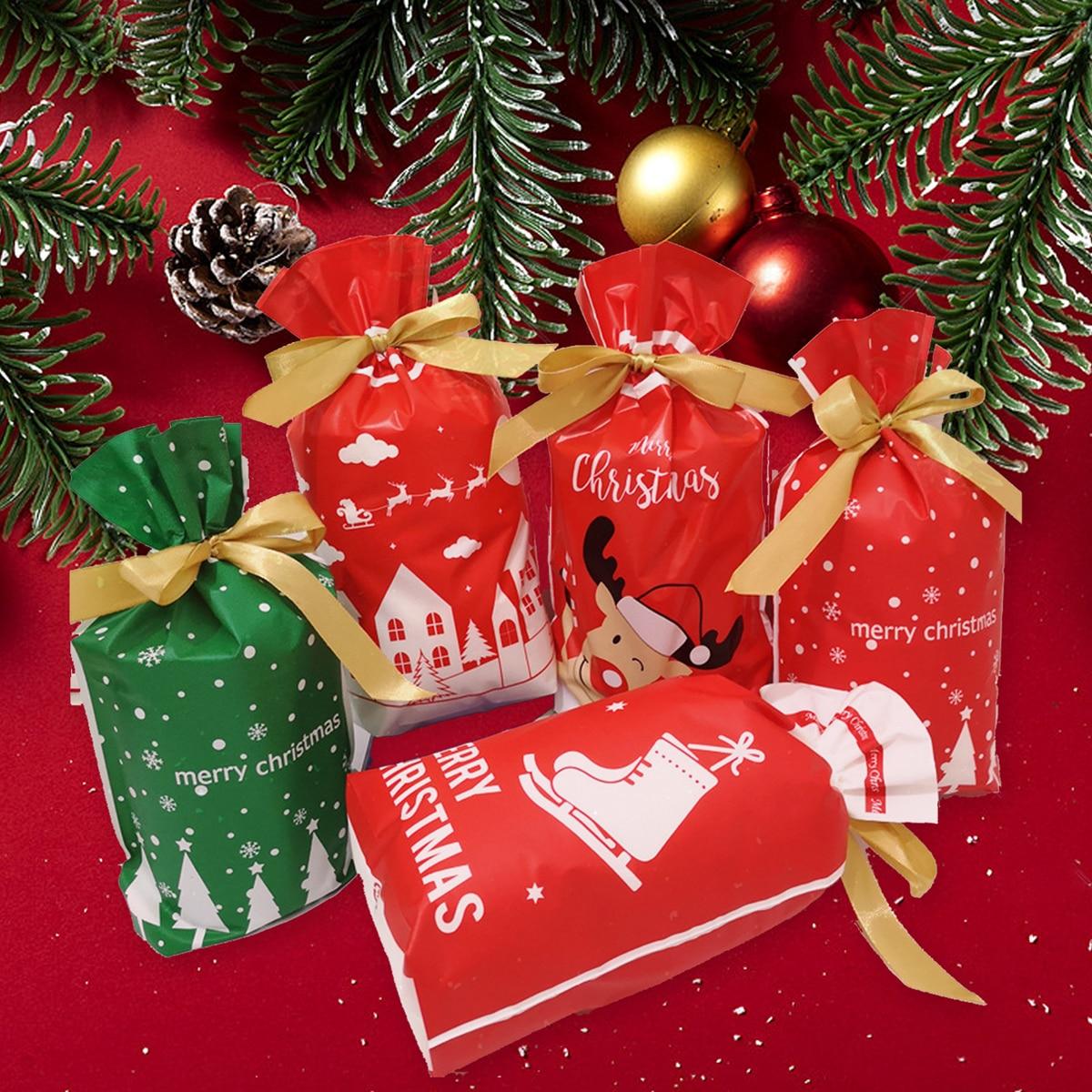 5шт Сумка с рождественским узором подарок