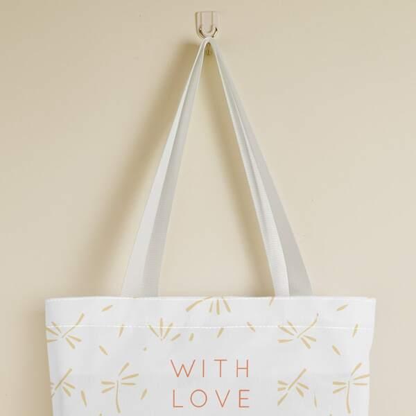 Letter Graphic Shopper Bag, Multicolor