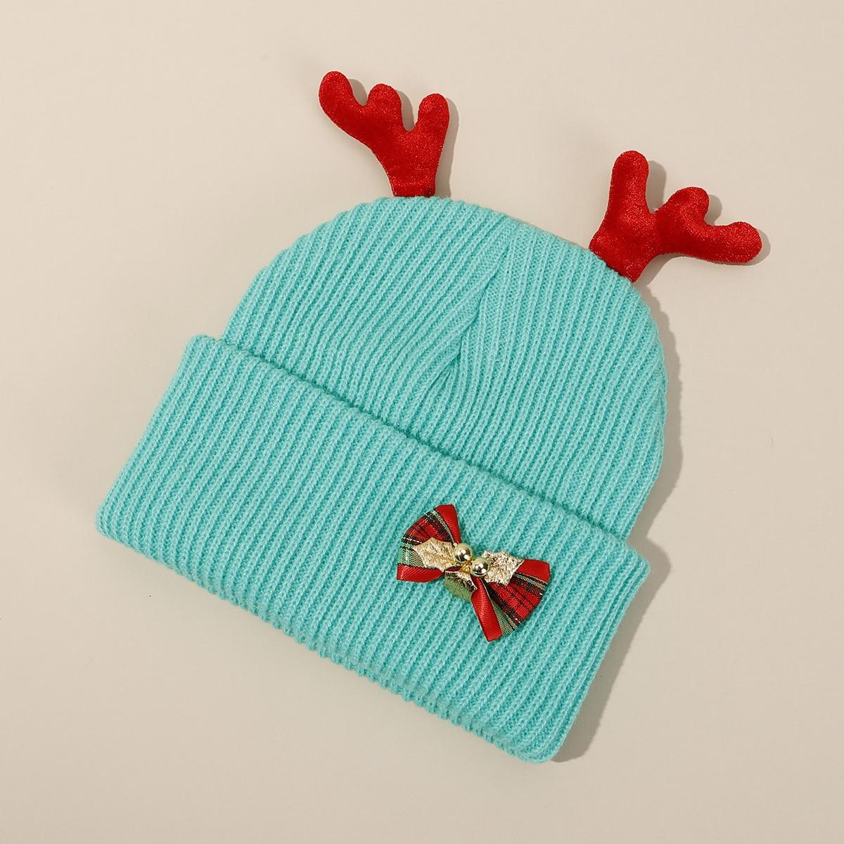 Enfant Bonnet Noël ramure & à nœud papillon