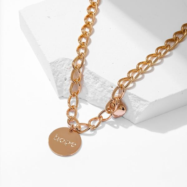 18K Gold Plated Heart Detail Necklace