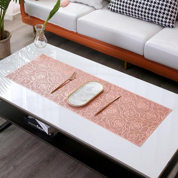 Rose Pattern Table Runner, Rose gold