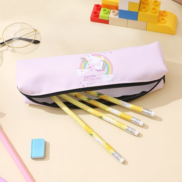 Unicorn Print Pencil Case, Pink