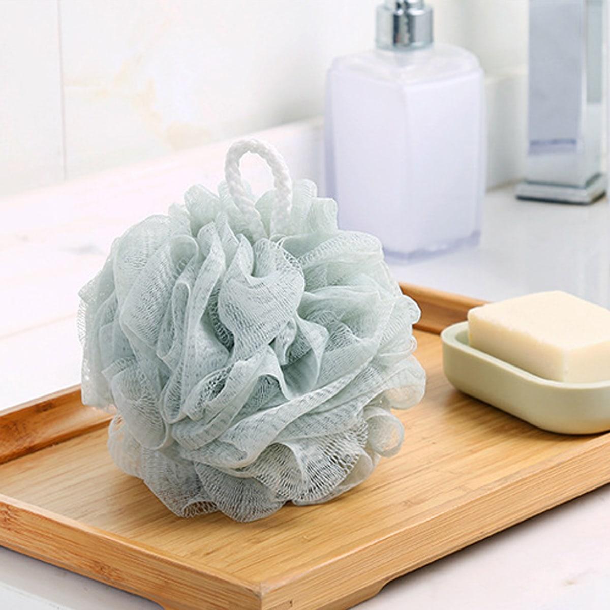 1шт Пенящаяся мочалка для ванны случайного цвета