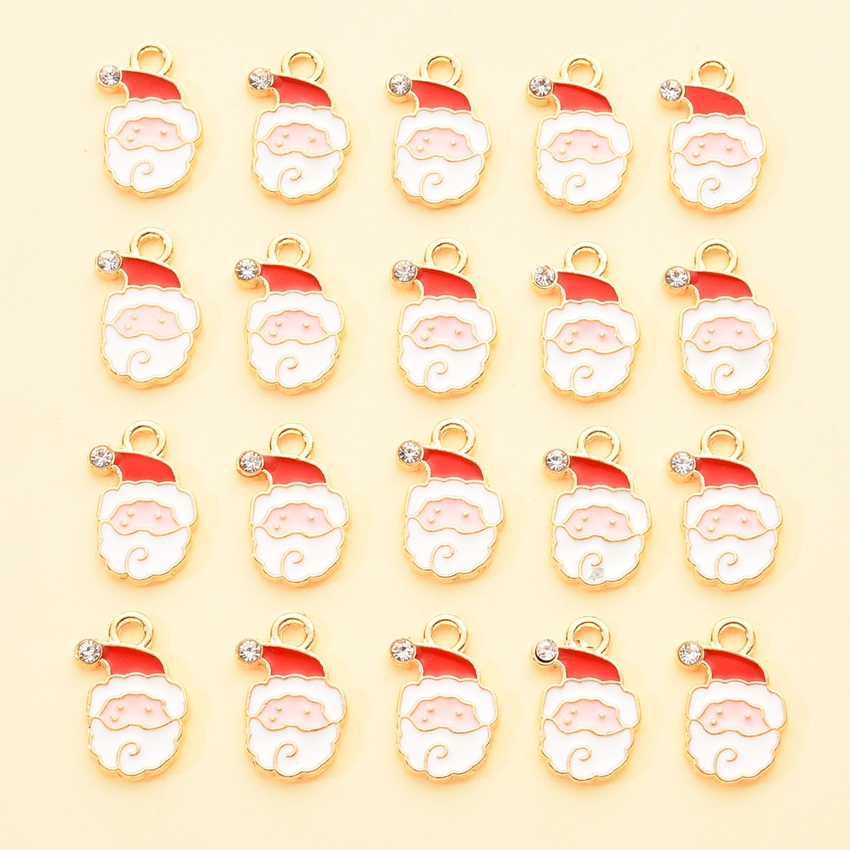 20шт рождественский со стразами санта-клаус подвеска