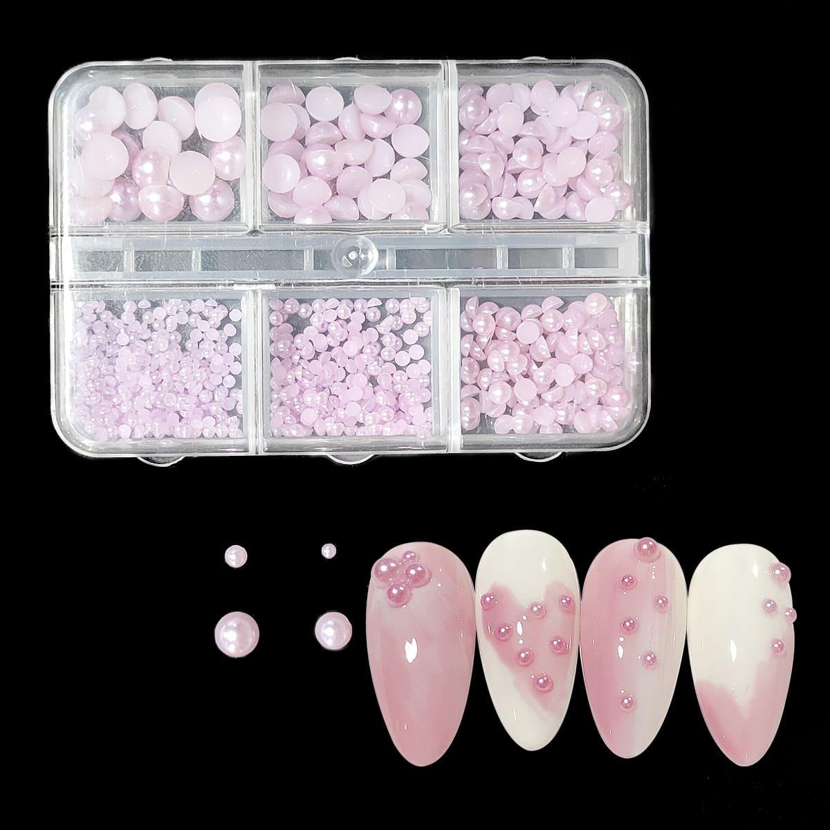 1 коробка Украшение для ногтей с искусственным жемчугом