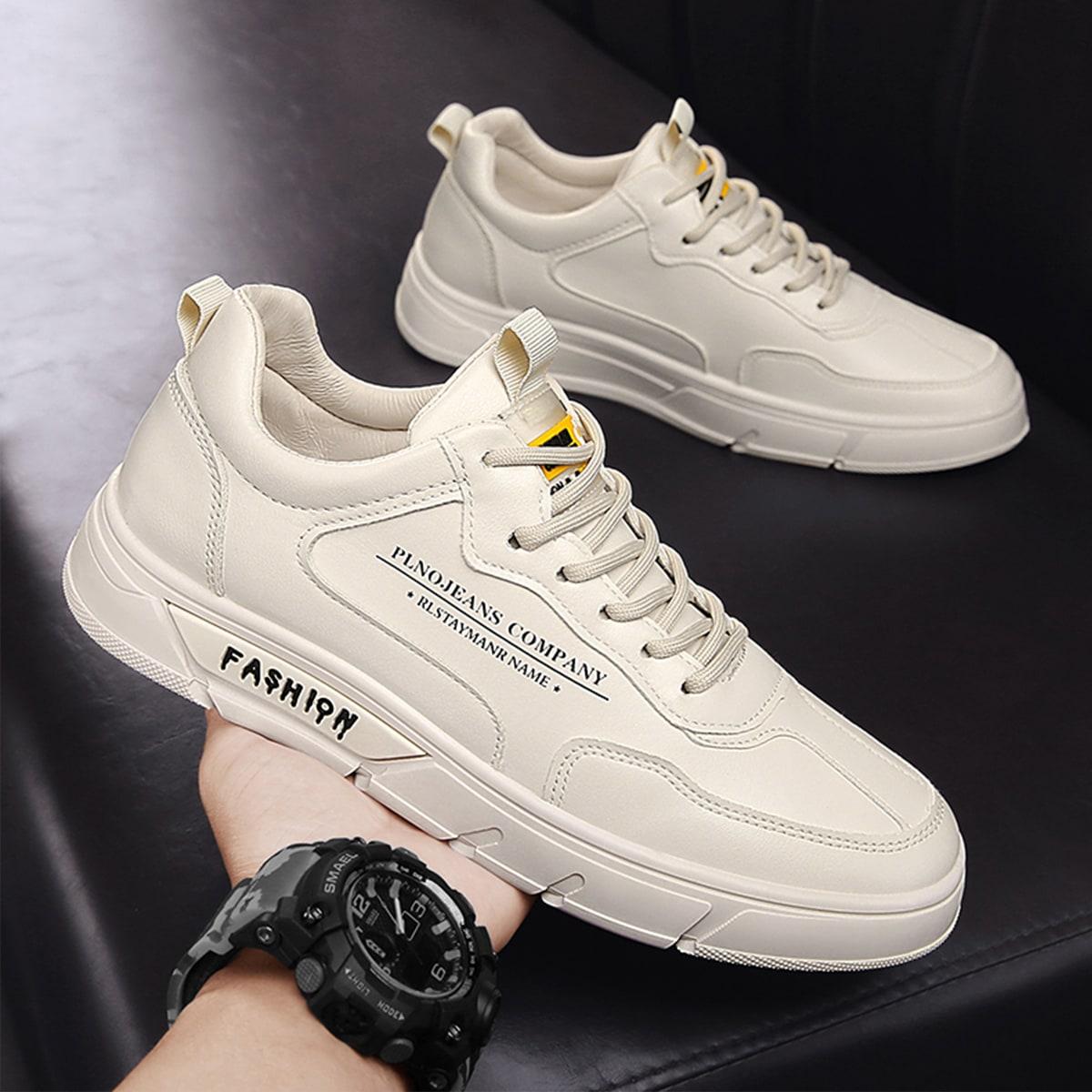 Кроссовки с текстовым принтом на шнурках для мужчины