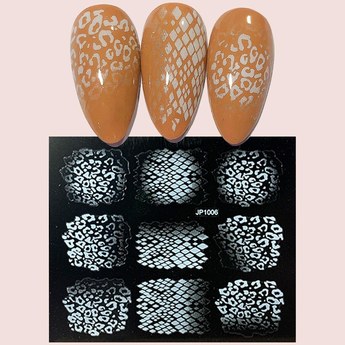 1 лист Наклейка для ногтей с леопардовым узором