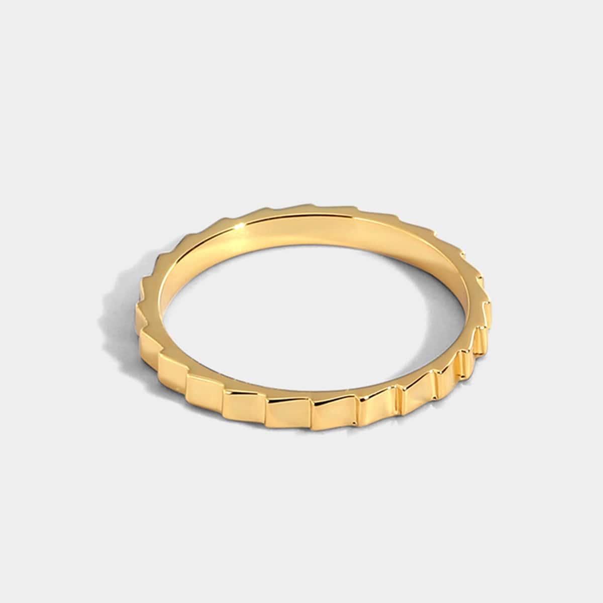 18K Позолоченное кольцо
