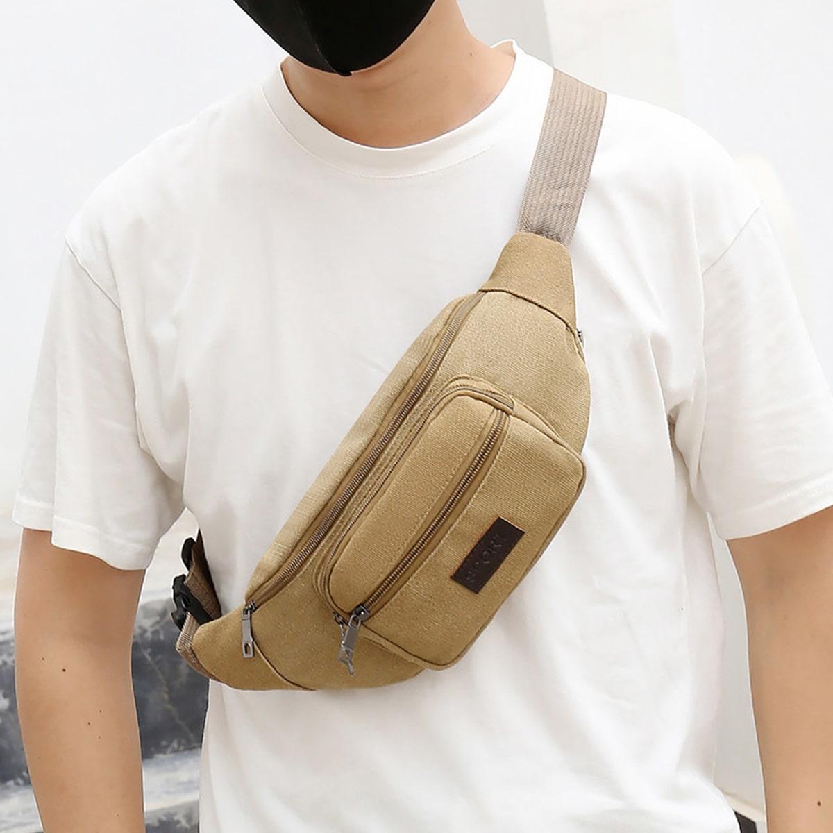 Минималистичная поясная сумка для мужчины