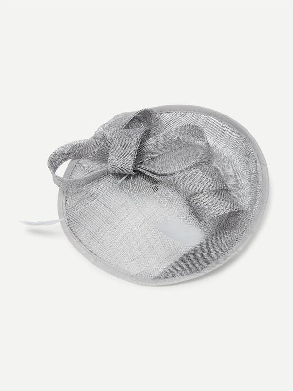 Feather Detail Pillarbox Fascinator Hat -SheIn(Sheinside) 36920e6ee53