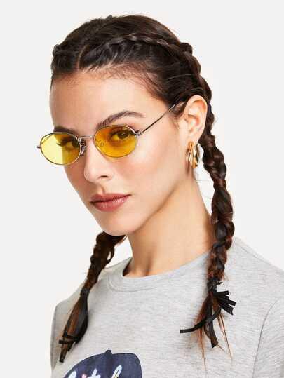 943bbf20e3 Tinted Oval Sunglasses