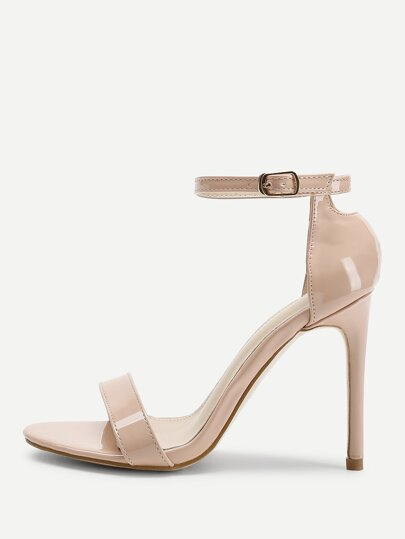 Two Part Ankle Strap Stiletto Heels 6b47816fd7fa