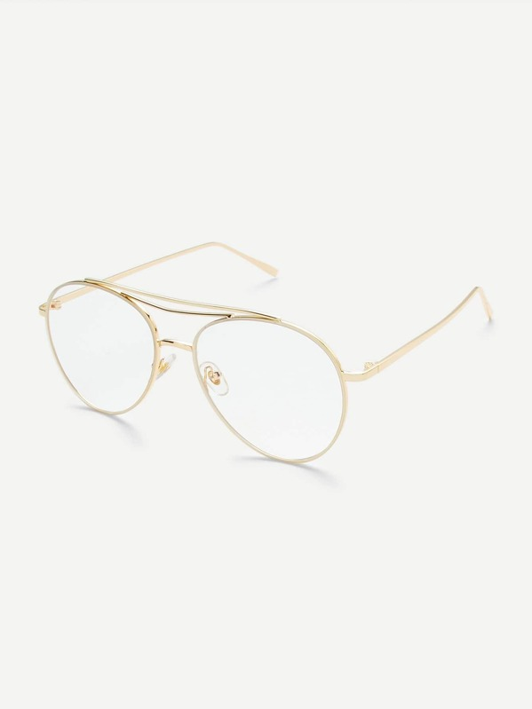 640b15033c Clear Lens Aviator Glasses -SheIn(Sheinside)