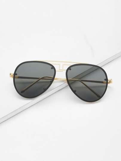50968cdc58 Cheap Asymmetrical Top Bar Rimless Aviator Sunglasses for sale Australia