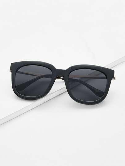 e34d1fa3cc1 Retro Black Lenses Oversized Square Sunglasses