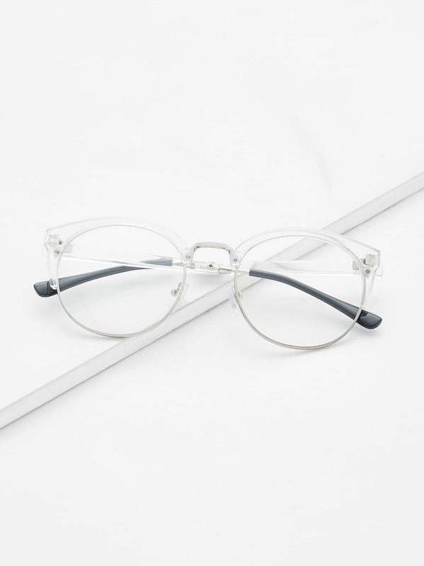 Clear Frame Glasses With Clear Lens -SheIn(Sheinside)