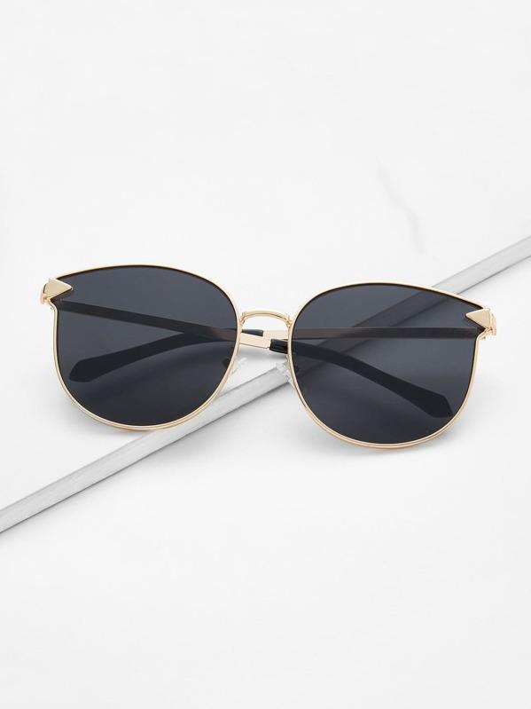 Gafas de sol con montura metálica y lentes planos -Spanish SheIn ...