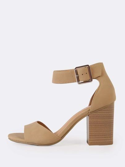 8187c6e0d1 Criss Cross Strappy Single Sole Heels MAUVE -SheIn(Sheinside)