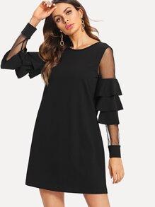 2018c66545 Plus Floral Lace Neck Dress. US 13.00. -33%