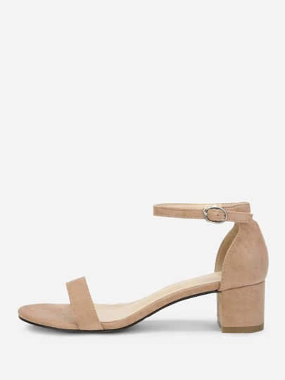 730c36d11e735 Ankle Strap Two Part Block-Heel Sandals