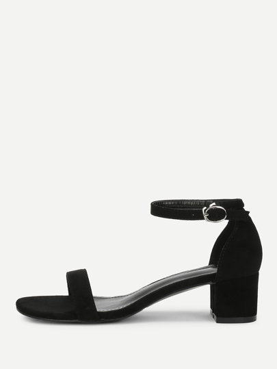 6ac10935503 Ankle Strap Two Part Block-Heel Sandals
