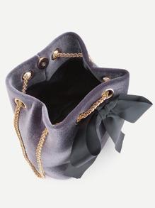 Tie Velvet borse Decorated p Bow 384306 Bucket cat 2152 html dxwEnS
