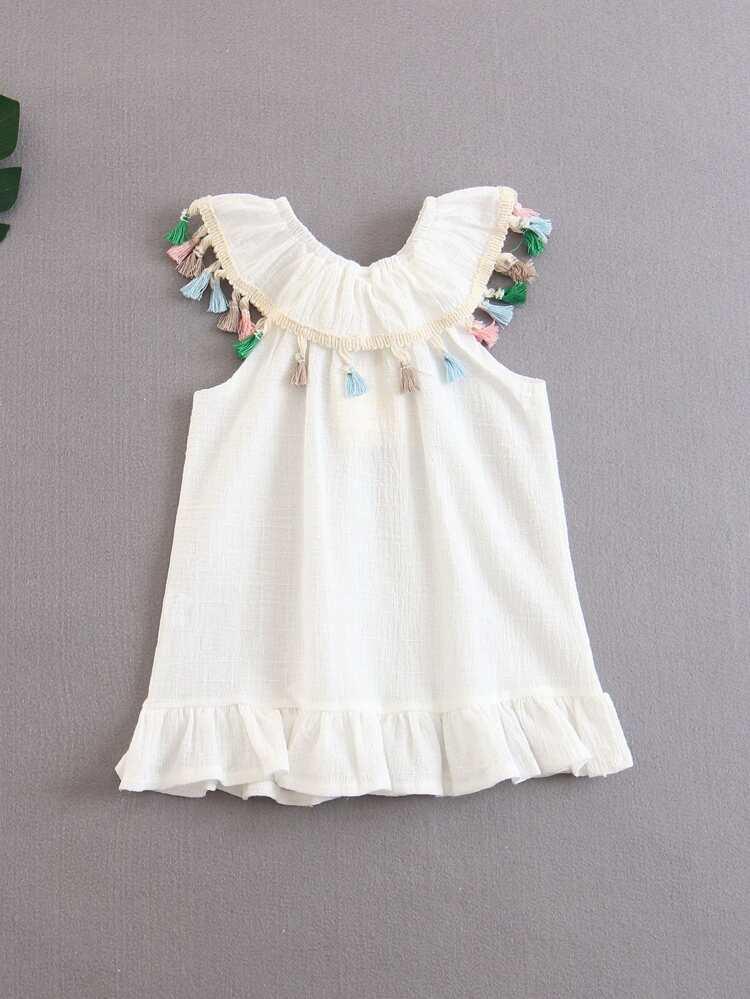9b420e6952a Toddler Girls Tassel Dress