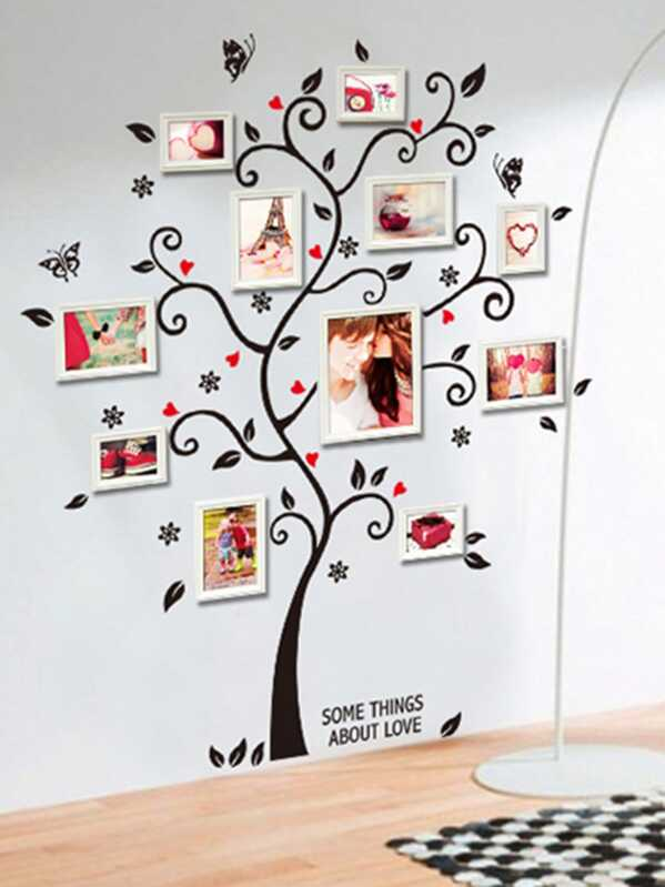 Photo Frame Tree Wall Decal Sheinsheinside