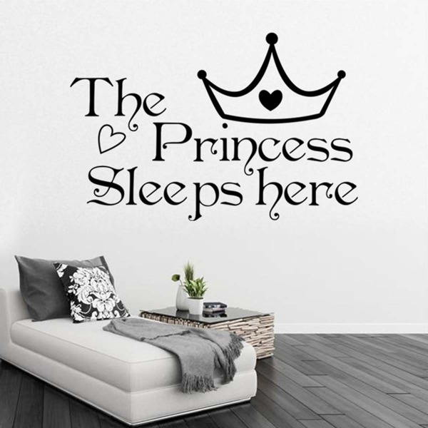 Crown & Slogan Wall Sticker
