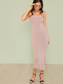 3ec3194a6a Cheap Ribbed Knit Tube Dress with Button Up Slit for sale Australia ...