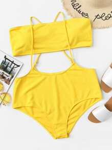 7814af1bfa Plus Cami Two Piece Swimwear -SheIn(Sheinside)