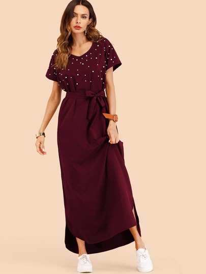 Kleid schwarz lang jersey