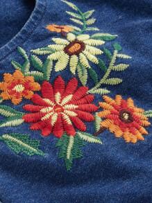 244c02da2f Cheap Embroidered Knotted Denim Bralette Top   Shorts Set for sale Australia