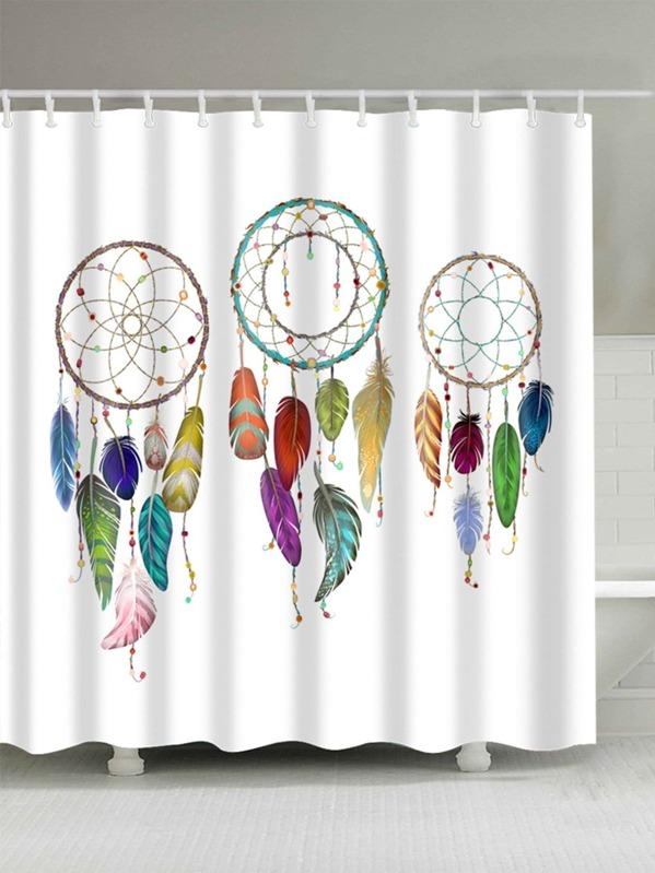 Dreamcatcher Shower Curtain With Hook 12pcs SheInSheinside