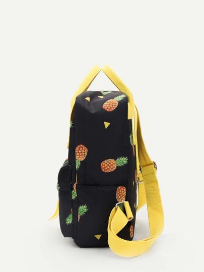 f00b9ded5eccd Baskı Sırt çantası Siyah Çanta | SHEIN TR