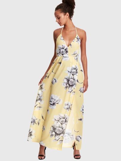 Maxi abito con stampa floreale all americana d163efc706d