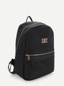faea7681b624 Side Pocket Double Zipper Backpack With Clutch