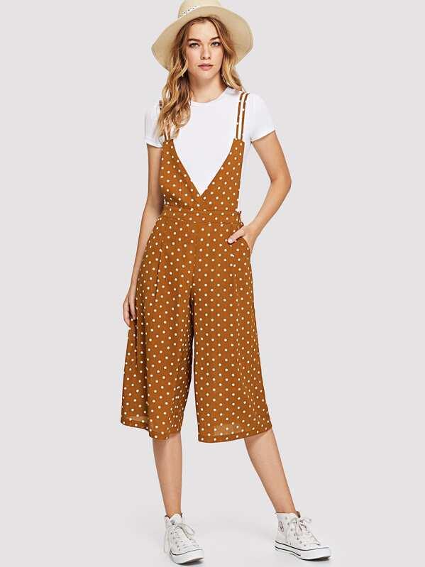 d3b0c18ac6e Cheap Crisscross Back Polka Dot Culotte Jumpsuit for sale Australia ...