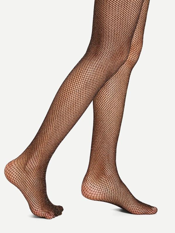12d66b04e Glitter Fishnet Tights -SheIn(Sheinside)