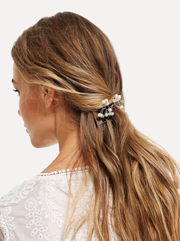 48d511851e Faux Pearl Decorated Hair Pin -SheIn(Sheinside)