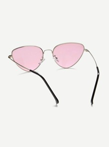 017ba6af88 Oval Shaped Flat Lens Sunglasses -SheIn(Sheinside)