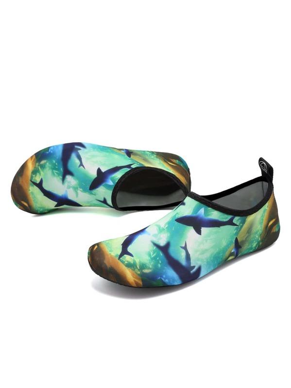Zapatillas deportivas de agua slip on con estampado de tiburón ...