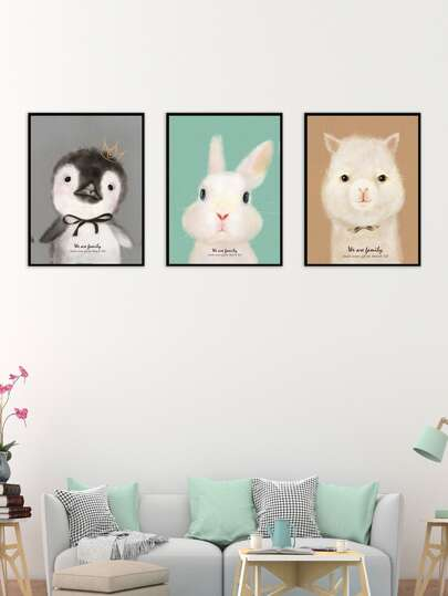 Animal Pattern Cloth Wall Art 3pcs -SheIn(Sheinside)
