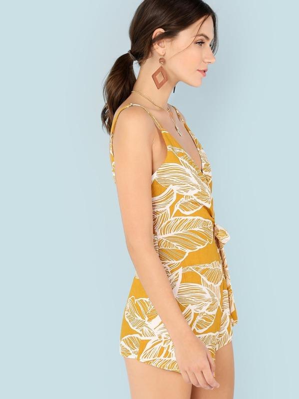 d1465310d15f Tropical Print Self Wrap Romper