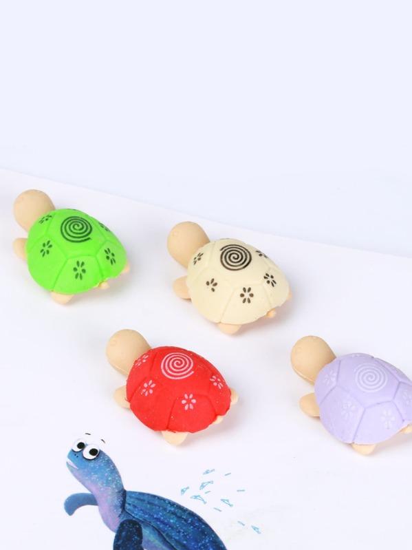 Goma de tortuga de color al azar 2 piezas-Spanish SheIn(Sheinside)