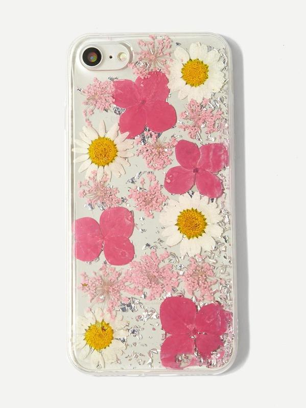 6f79db1e4b Flower Pattern iPhone Case -SheIn(Sheinside)