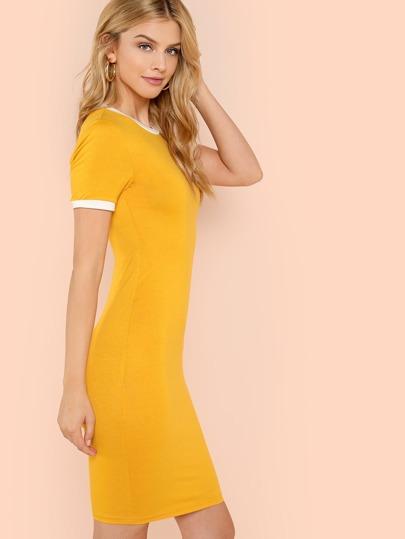 Ringer Bodycon T-Shirt Dress  7f33fbd1128b