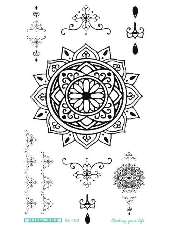 Cheap Lotus Flower Pattern Tattoo Sticker For Sale Australia Shein