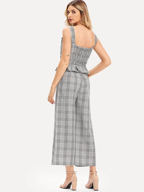 b573418111c46 Glen Plaid Overall Pants Bodysuits And Jumpsuits Overalls Plaid